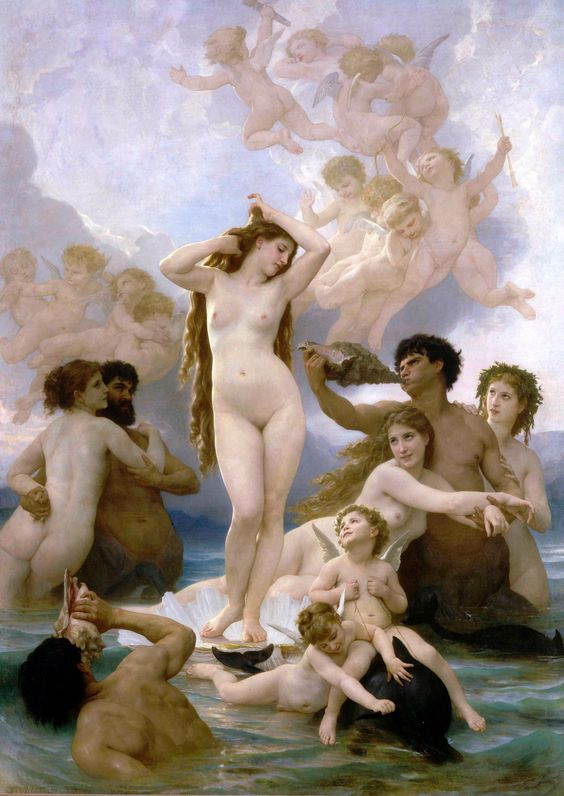William-Adolphe Bouguereau (1825-1905) - El Nacimiento de Venus (1879)