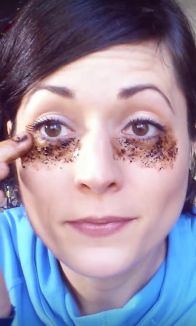 She Puts Coffee Under Her Eyes. But When She`s Done? Brilliant