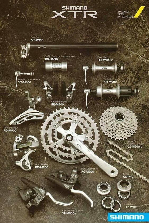 In 1992 Shimano introduced XTR as a new race orientated mountain bike groupset #RideShimano #XTR