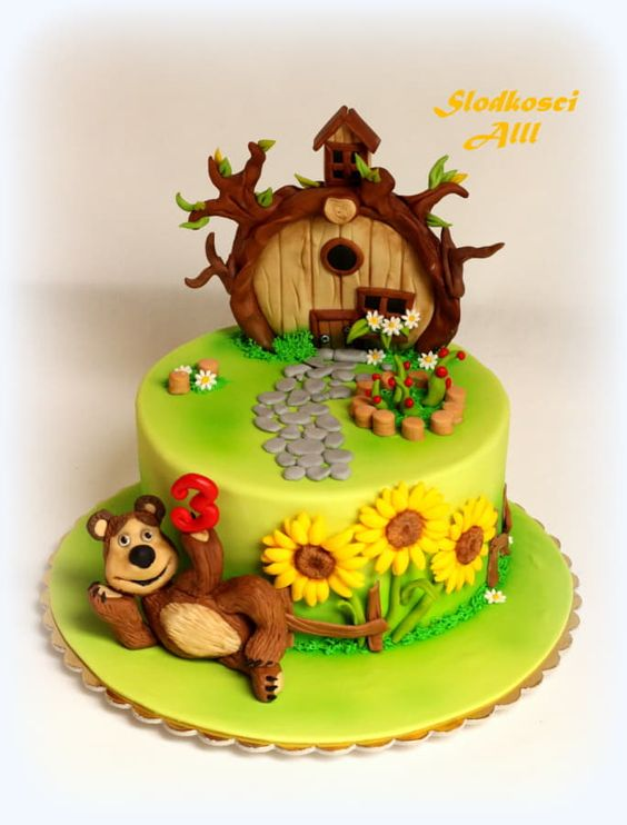 Masha and the Bear - Cake by Alll: