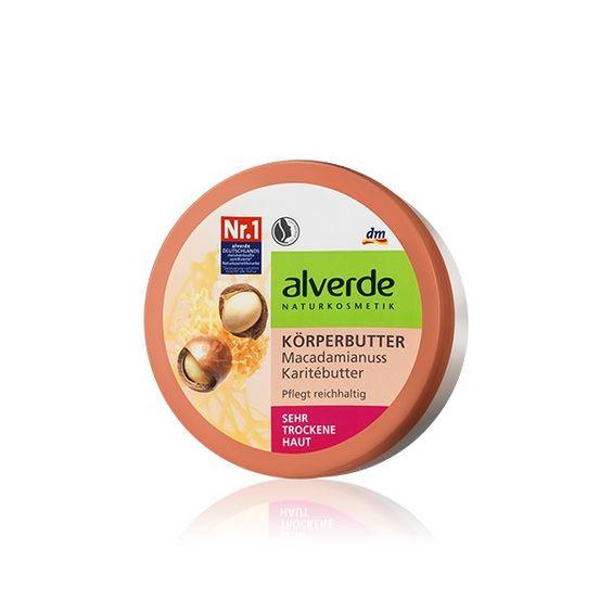 Crème pour le corps au beurre de karité Alverde : Un très bon baume pour réparer et nourrir la peau. Laisse une bonne odeur authentique de karité , contrairement aux produits de grandes surfaces chimiques.