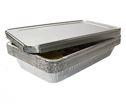 Ehomea2z Full Size Deep Disposable Aluminum Foil Steam Table Pans