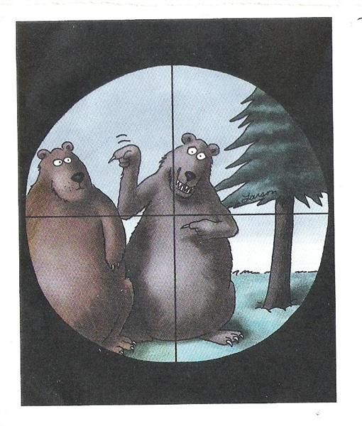 The Far Side - either you got it right away or sat there scratching