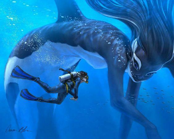 Pin by amyvanzi98 on Aaron Blaise favs | Animation portfolio, Mermaid art,  Fantasy art