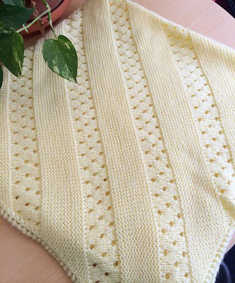 Daily Knit Pattern: Treasured Heirloom Baby Blanket Knitting pearls Pinte...