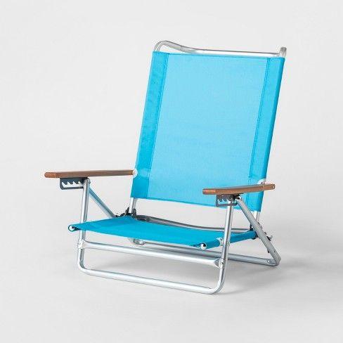 5 Position Collapsible Beach Chair Blue Sun Squad Target Beach Chairs Folding Beach Chair Rocking Chair Porch
