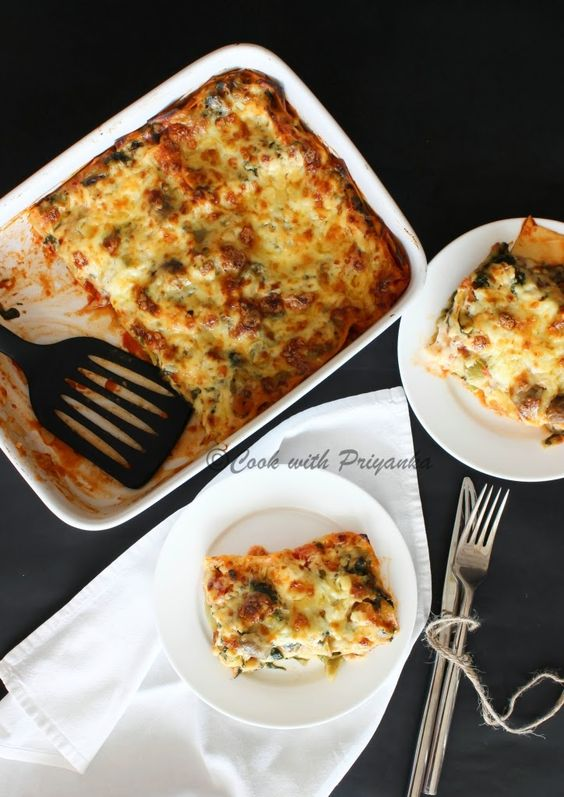 Cook with Priyanka: Vegetable Lasagna from scratch