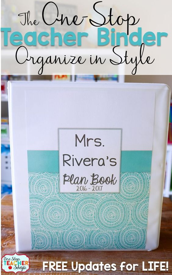 Lesson Plan Book Cover Template : Teacher binder organization and
