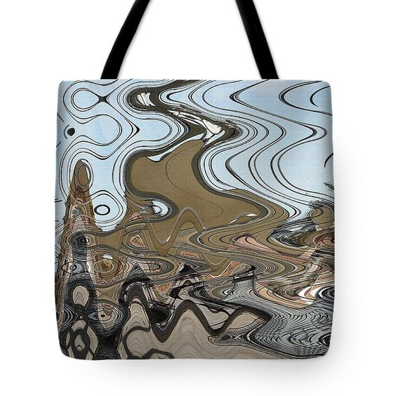 Footbridge Tempe Town Lake Abstract Tote Bag featuring the digital art Footbridge Tempe Town Lake Abstract by Tom Janca