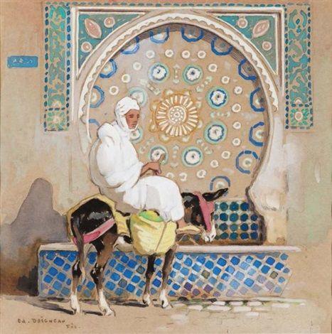 L'ânier marocain von Edouard Edmond Doigneau