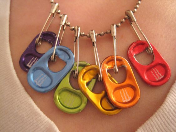 Monster Tab Rainbow Necklace: