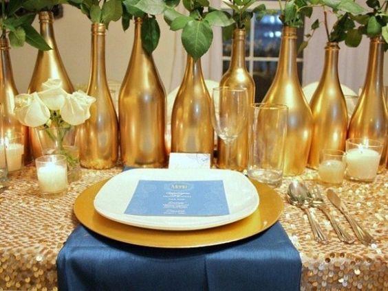 Inspiração: Decoração de bodas de Ouro | Blog do Casamento. Aqui está a fonte. A primeira imagem que vimos e que começou com tudo.