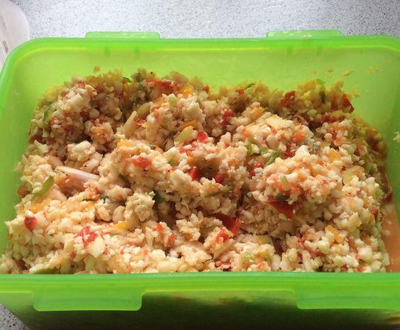 Rezept Blumenkohl-Salat lowcarb von Chefkoch-Robby - Rezept der Kategorie Vorspeisen/Salate