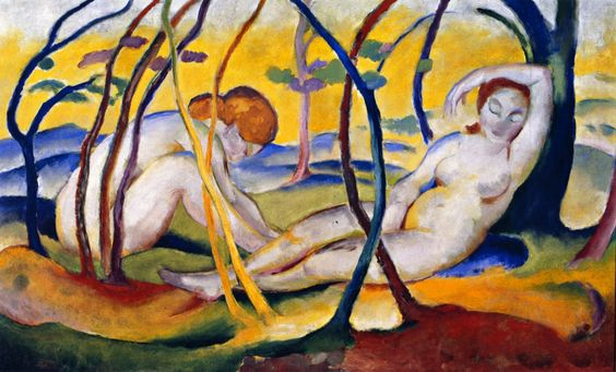 Franz Marc, Nudes in the Open Air (Nudes under Trees), 1911