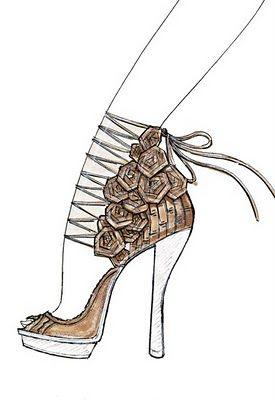 Eclectic Jewelry and Fashion: In Sketches: Spring 2011 Shoe Designs