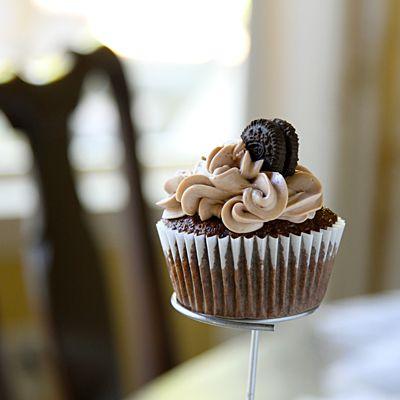 Oreo Cookie-Stuffed Chocolate Cupcakes