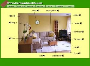 Bedroom furniture names in english living room interior for Living room vocabulary