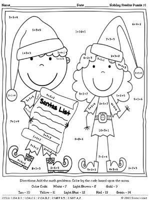 math worksheet : christmas maths problems year 2  free coloring math worksheets 33  : Christmas Math Worksheets 5th Grade