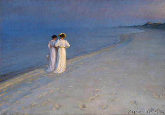Peder Severin Krøyer - Sommerabend bei Skagen