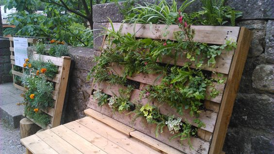 Jardinera vertical de palets