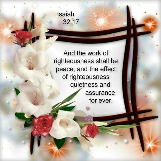 Isaiah 32:17