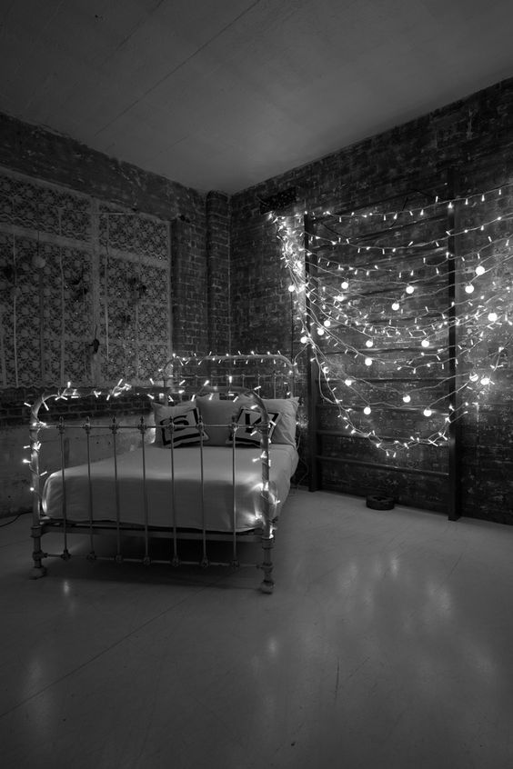 Use LED string lights so you can rest easy that they wo not get too hot. Create your restful ...