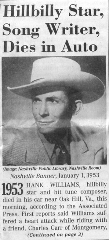 Image result for hank williams 1953