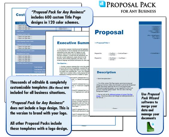 Best Business Proposal Templates Images On