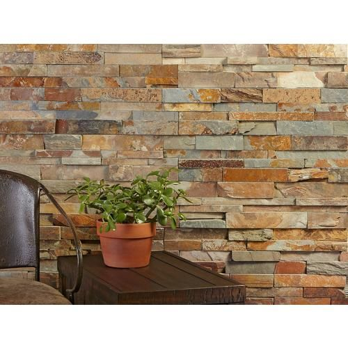 Multicolor Splitface Slate Panel Ledger In 2020 Stone Tile Wall Stone Walls Interior Wall Exterior