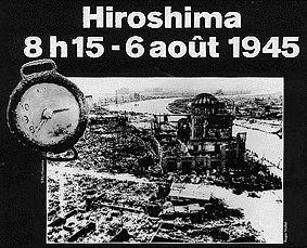 ⌛️ 6 août 1945 : Les  États-Unis larguent une bombe atomique sur Hiroshima après que les dirigeants japonais eurent rejeté les conditions de l'ultimatum de la conférence de Potsdam.
