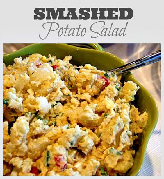 Smashed Potato Salad | Potato Salad, Potatoes and Salads
