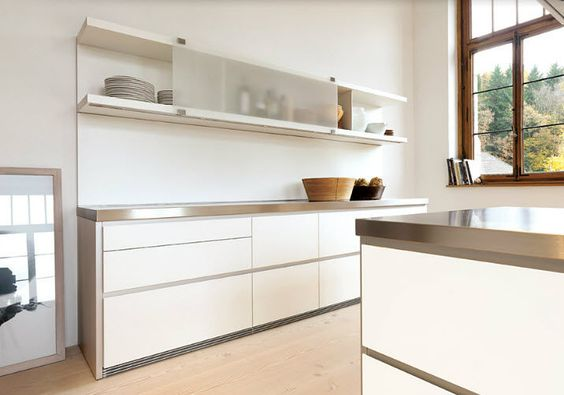 Küchen-Hängeschrank B1 Bulthaup mit Schiebetüre White Living - küchenzeile ohne hängeschränke