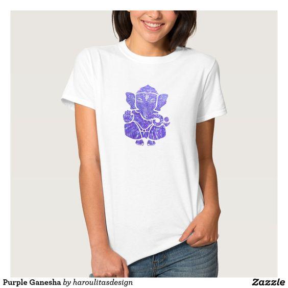 Purple Ganesha T Shirts