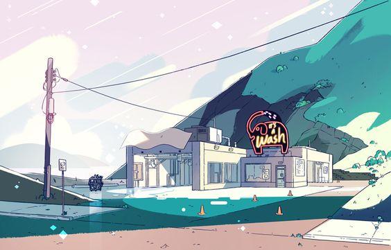 Steven Universe S1E6 «Cat Fingers» - Art Director : Kevin Dart - Painter : Sophie Diao