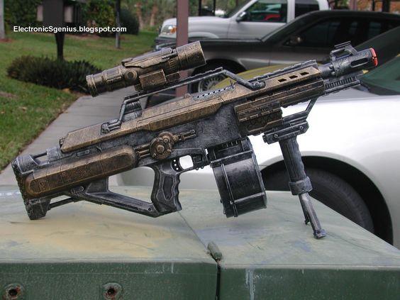 Adam Savage's One Day Builds: Custom NERF Rifle - YouTube | Steampunk |  Pinterest | Nerf rifle, Guns and Secret santa gifts