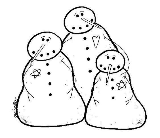 Free Winter Snowmen pattern