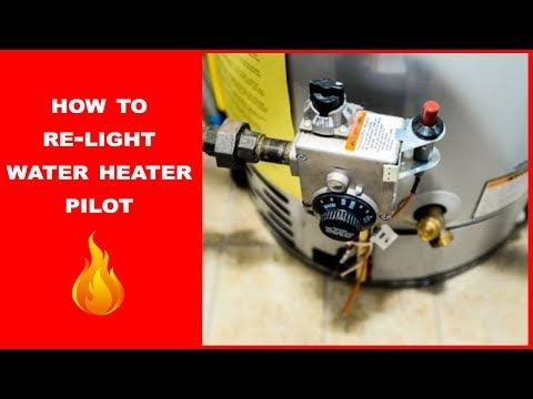 How To Light Your Water Heater Pilot Youtube Water Heater Water Lighting Heater