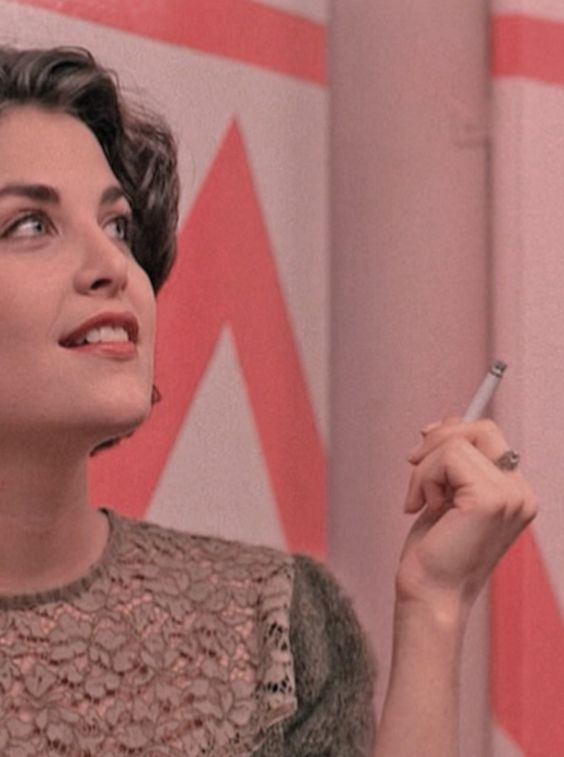 """Sherilyn Fenn portrays the character of Audrey Horne in the tv show """"Twin Peaks""""......."""