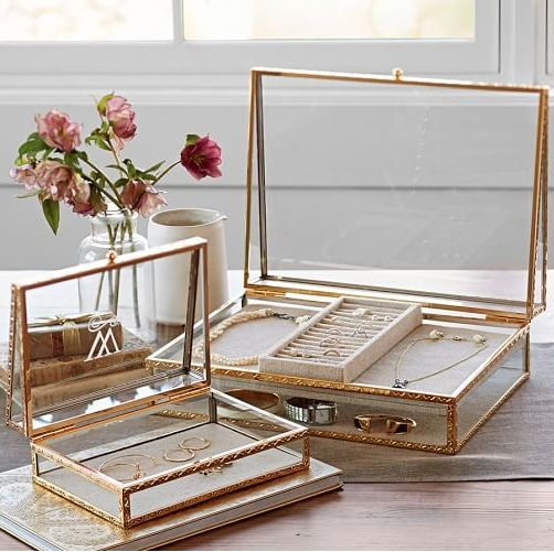 beauitufl antique gold jewelry boxes