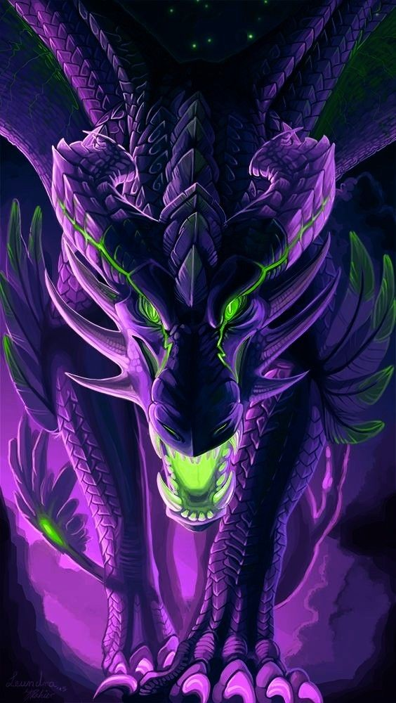 Dragon Neon Purple Green Background Wallpaper Cool Badass Awesome Remixit Via Pi Dragon Artwork Fantasy Dragon Wallpaper Iphone Fantasy Creatures Art