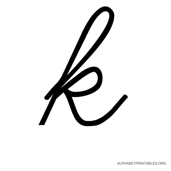 k | Cursive Alphabet Letters in Printable Format. Small Lowercase ...