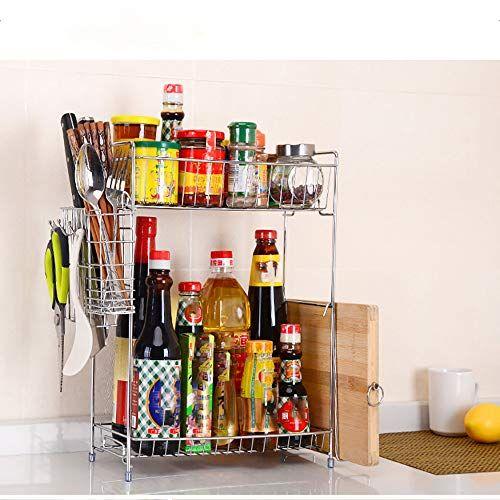 Keeplus 41x16 5x40 5cm 2 Storey Rack For Kitchen Bathroom