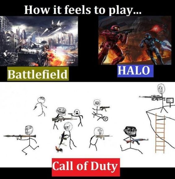 Funny Call Of Duty Zombie Memes : Battlefield vs halo call of duty funny pinterest