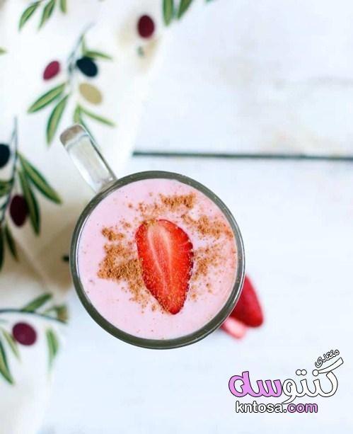 عصير فراوله لذيذ عصير الفراولة المثلج طريقة عمل عصير الفراولة عصير فراولة مجمدة بالصو Smoothie Recipes Strawberry Strawberry Smoothie Easy Strawberry Smoothie