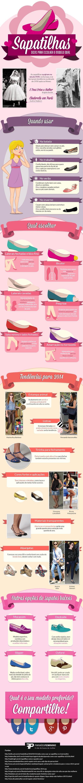 Infográfico de Sapatilhas - Dicas para escolher o modelo ideal | Blog do Casamento