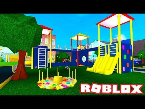 I Made A Playground Bloxburg Build Roblox Youtube Cool Playgrounds Baby Room Pictures Roblox