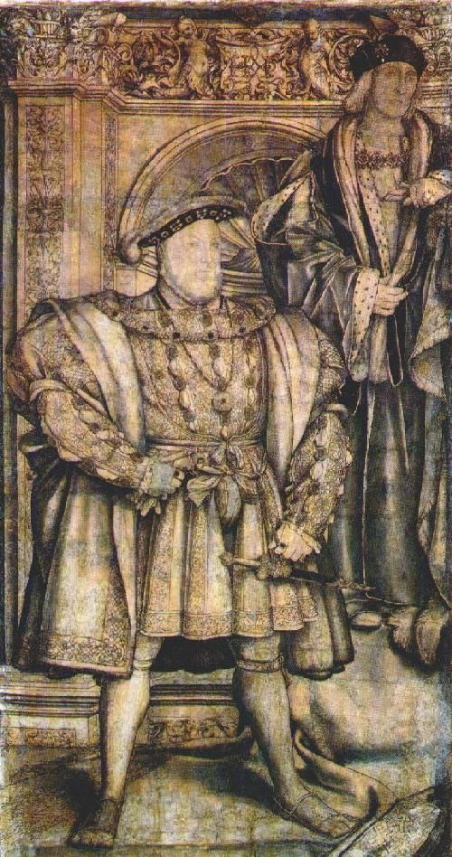 Henry VIII & his father, Henry VII, c.1536-37; by Hans Holbein the Younger http://www.marileecody.com/henrys.jpg