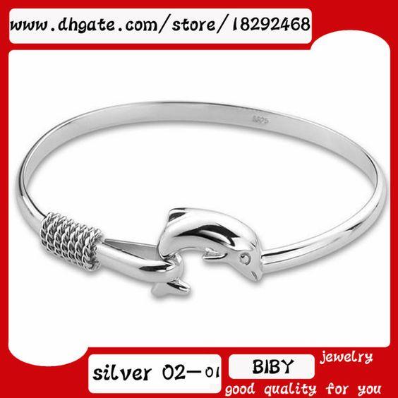 Promotion Fashion Women's 925 Silver Bangle Bracelets Jewelry 925 Silver Shining Women's Bangle Bracelets