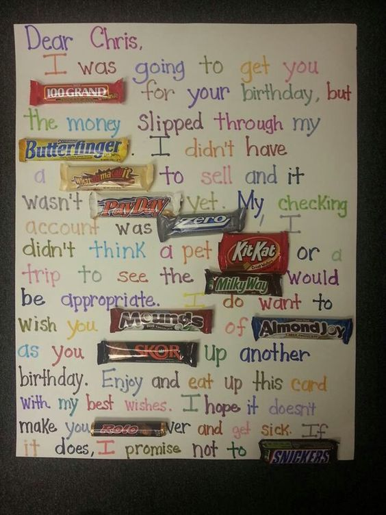 Candy Bar Posters Birthday Posters And Candy Bars On