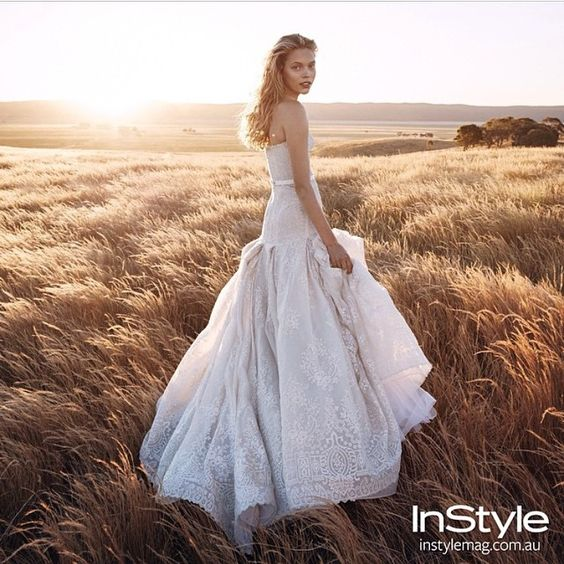 Wow! This image took our Breathe away. #stevenkhalil Gown Featured in the new Edition of @instylemag this is a must for all brides to Be. Incredible styling by the Great @msgreenygreen love your work Katherine